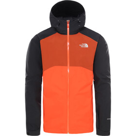 The North Face Stratos Kurtka Mężczyźni, acrylic orange/tnf black/picante red